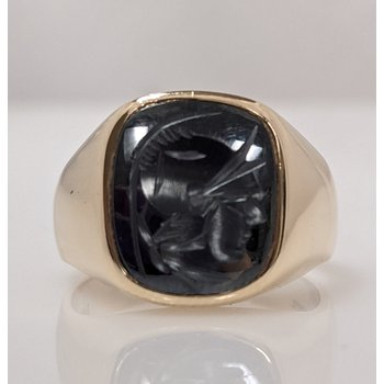 10KY Gent's Intaglio Ring