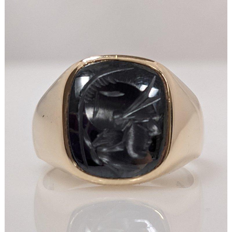 Estate Specials 10KY Gent's Intaglio Ring