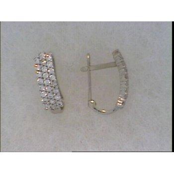 10KW CZ Pave Earrings