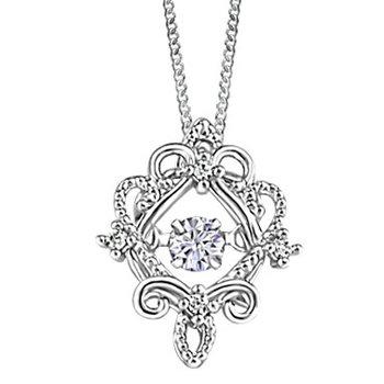10KW Filigree Pendant with Diamond