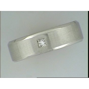 14KW Wedding Band with Diamond Accent