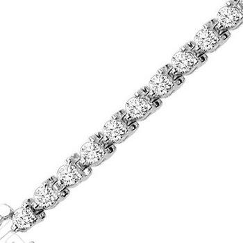 Diamond Tennis Bracelet 4 ctw 14K White Gold B133B-4ct