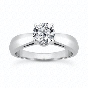 14KW Solitaire Engagement Ring Mount