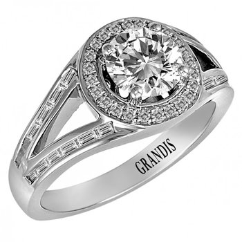Grandis Diamond Engagement Ring mount 14K 0.72 ctw ER3107