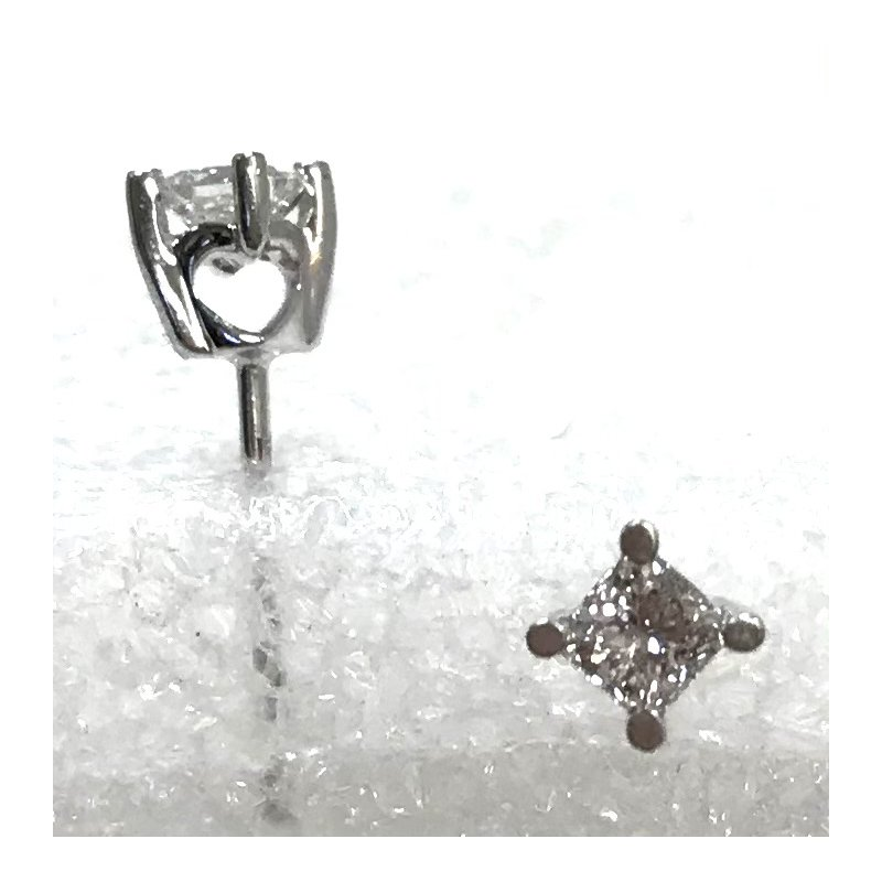 Estate Specials Princess-cut Diamond Studs