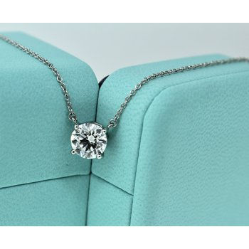 Tiffany Diamond Solitaire Necklace