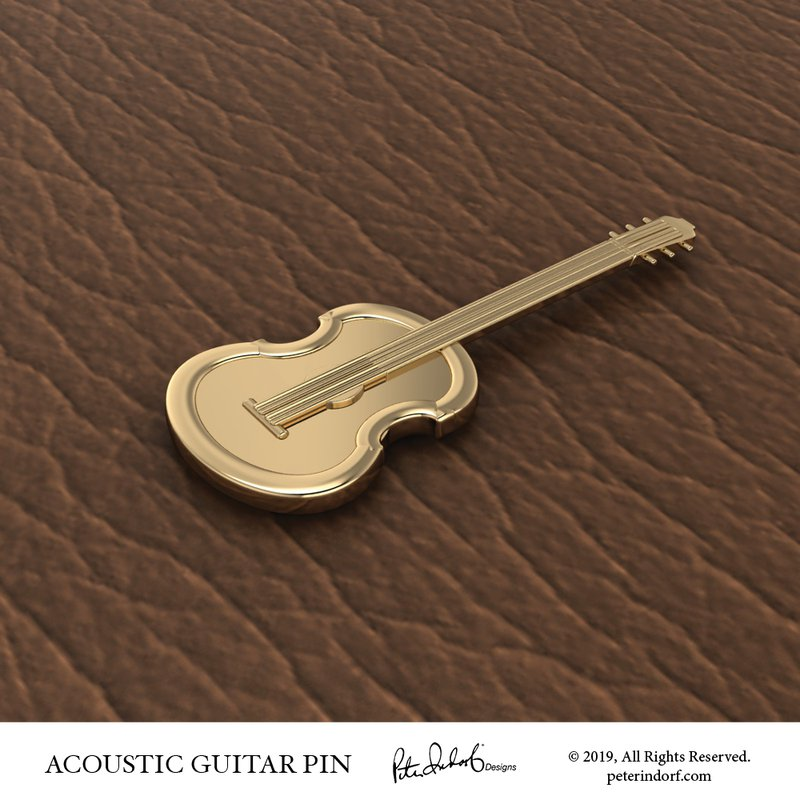 Peter Indorf Collection Acoustic Guitar Pin