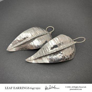 Fine Silver Leaf Earrings