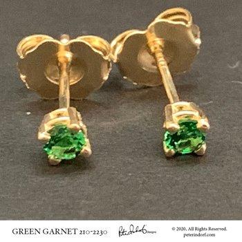 Green Garnet Studs