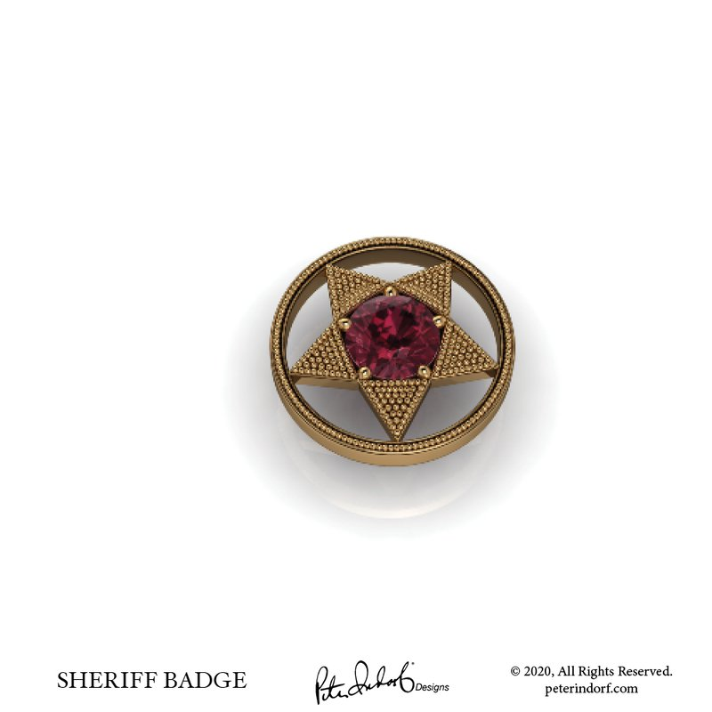 Peter Indorf Collection Sheriff' Badge