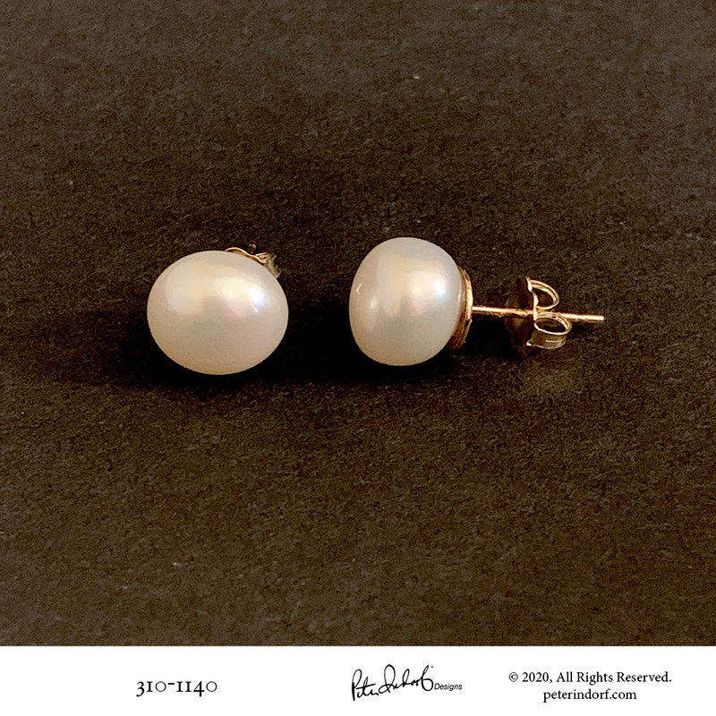 Peter Indorf Collection Button Pearl Studs