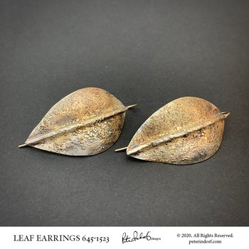 Leaf Earrings in Sterling & 22KYG