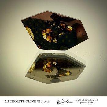 Meteorite with Olivine