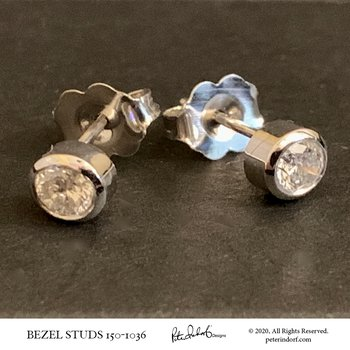 Bezel Diamond Studs