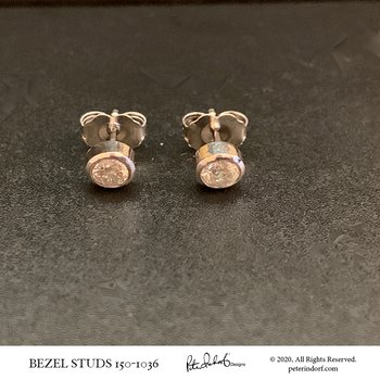 Bezel Diamond Studs