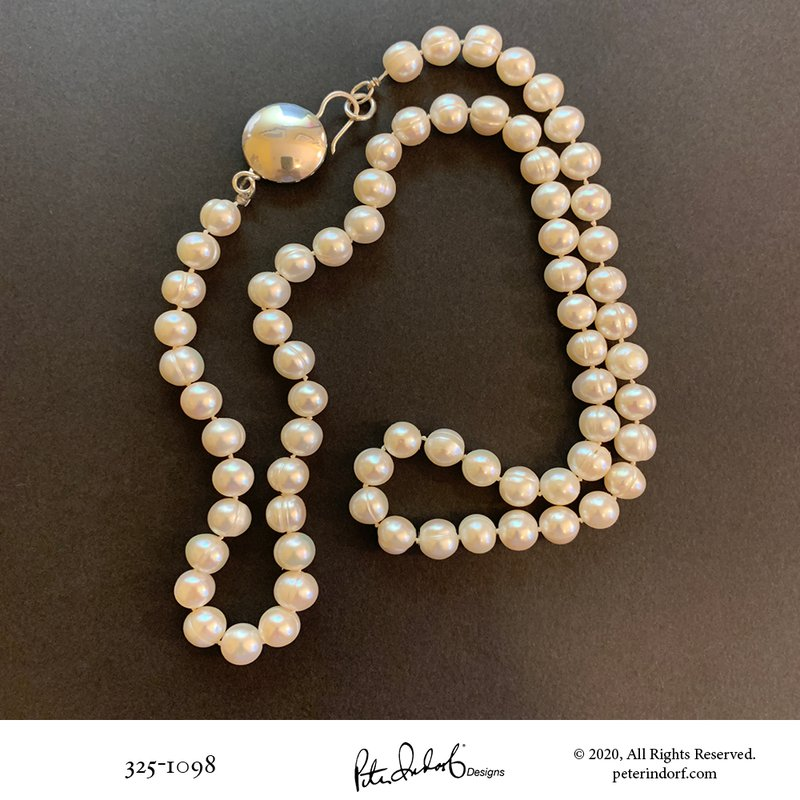 Peter Indorf Collection Pearl Necklace with Full Moon Clasp
