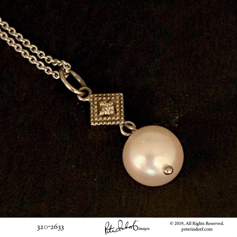 Peter Indorf Collection Pearl & Diamond Drop Pendant
