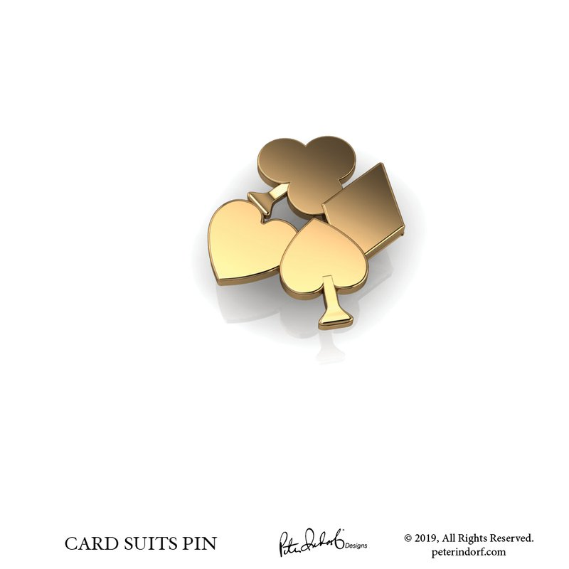 Peter Indorf Collection Card Suit Pin