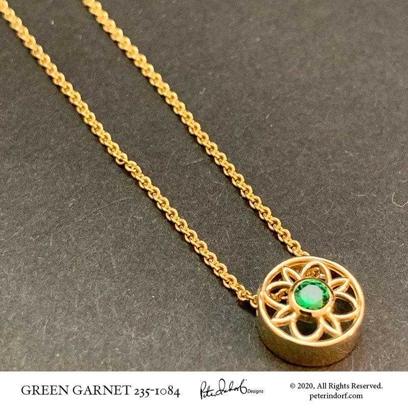 Peter Indorf Collection Green Garnet Slide