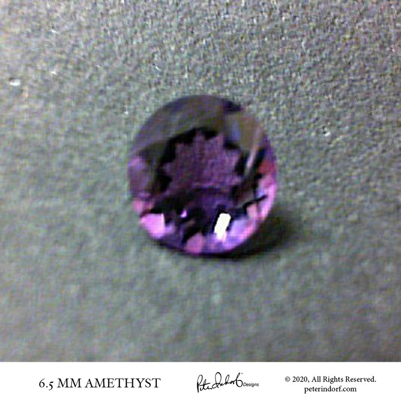 Peter Indorf Collection 6.5 mm Round Amethyst