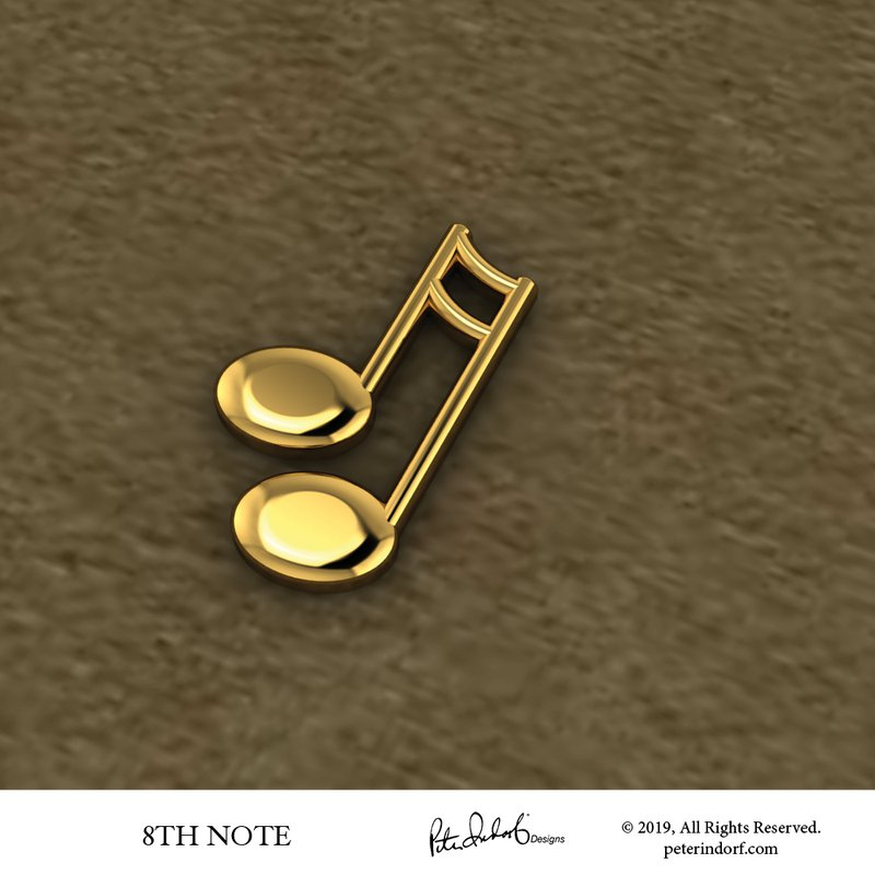 Peter Indorf Collection 32nd Note Pin