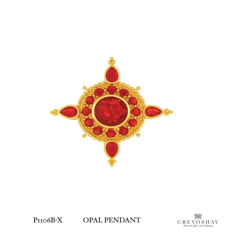 Paula Crevoshay  Opal Pendant