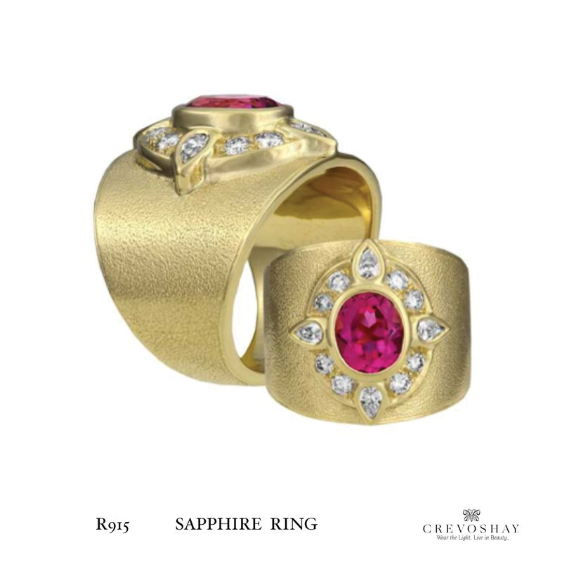 Paula Crevoshay  Sapphire Ring