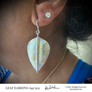 Leaf Earrings in Sterling and 22KYG