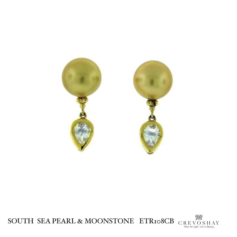 Paula Crevoshay  South Sea Pearl & Moonstone