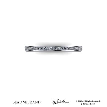 Bead set band