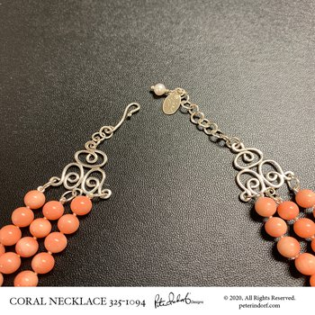 Coral Scroll Necklace