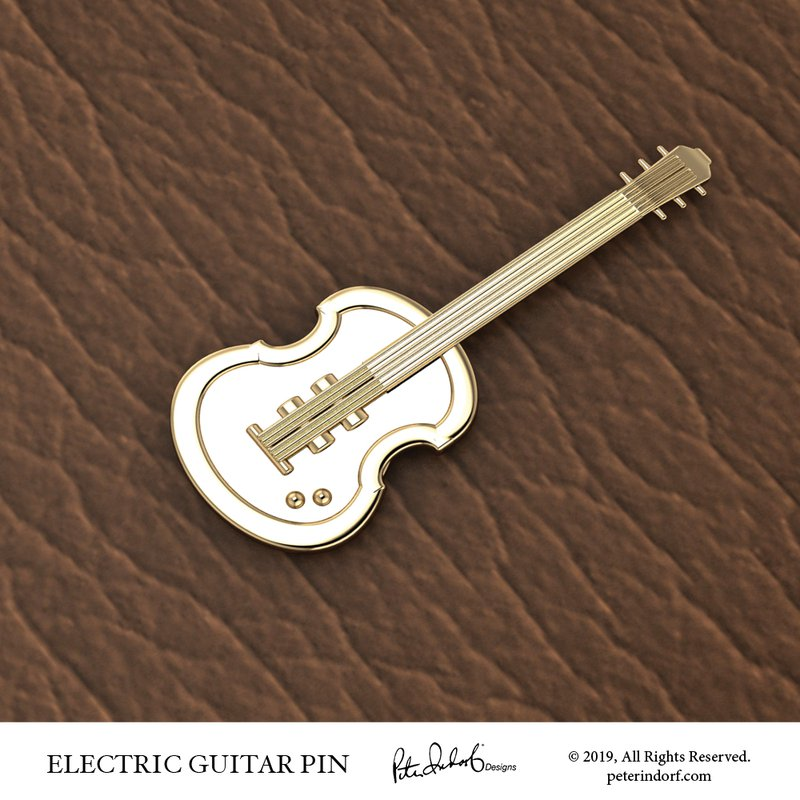 Peter Indorf Collection Electric Guitar Pin