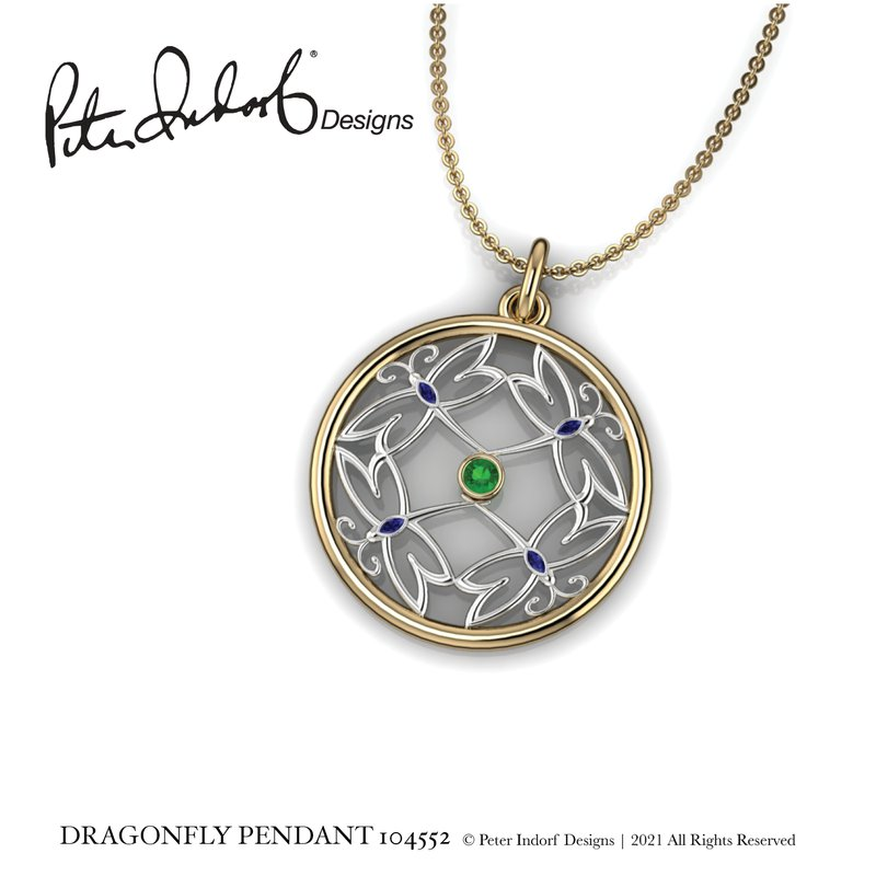 Peter Indorf Collection Dragonfly Pendant