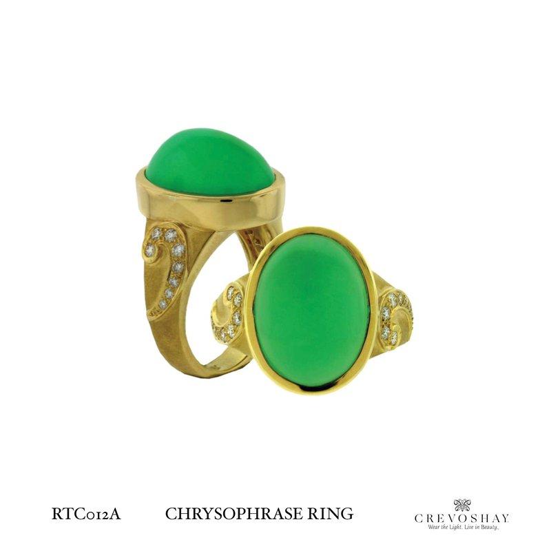 Paula Crevoshay  Chrysophase Ring