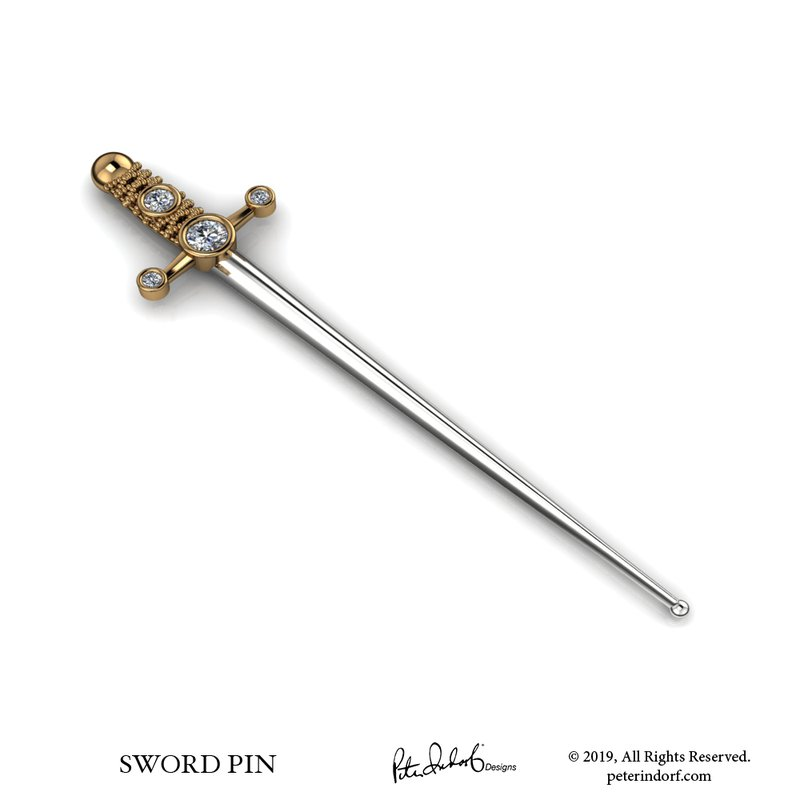 Peter Indorf Collection Sword Pin