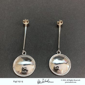 Moon Crater Drop Earrings