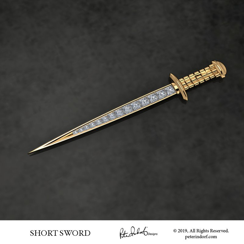 Peter Indorf Collection Short Sword Pin