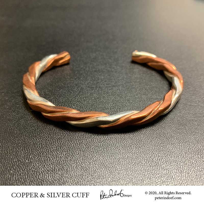 Peter Indorf Collection Man's Copper & Silver Cuff