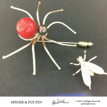 Spider & the Fly Pin