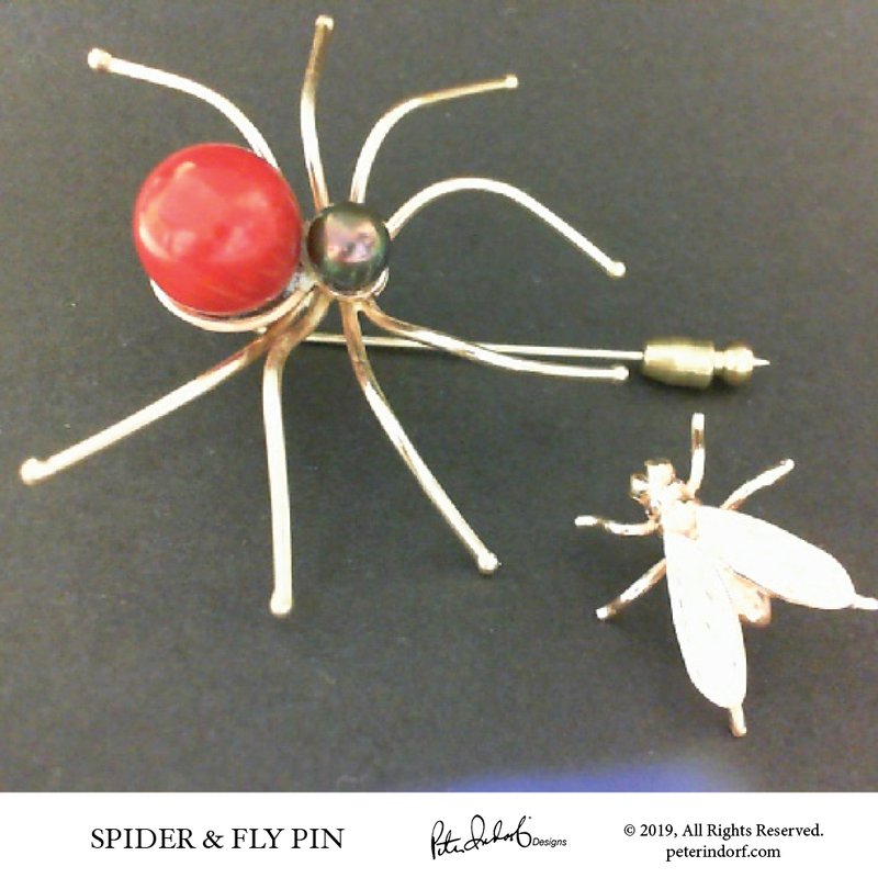 Peter Indorf Collection Spider & the Fly Pin