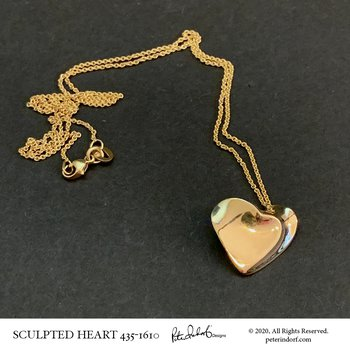 14K Sculpted Heart