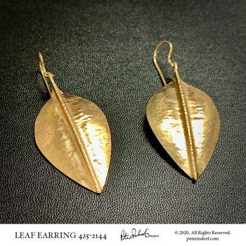 Hammered Leaf Earrings