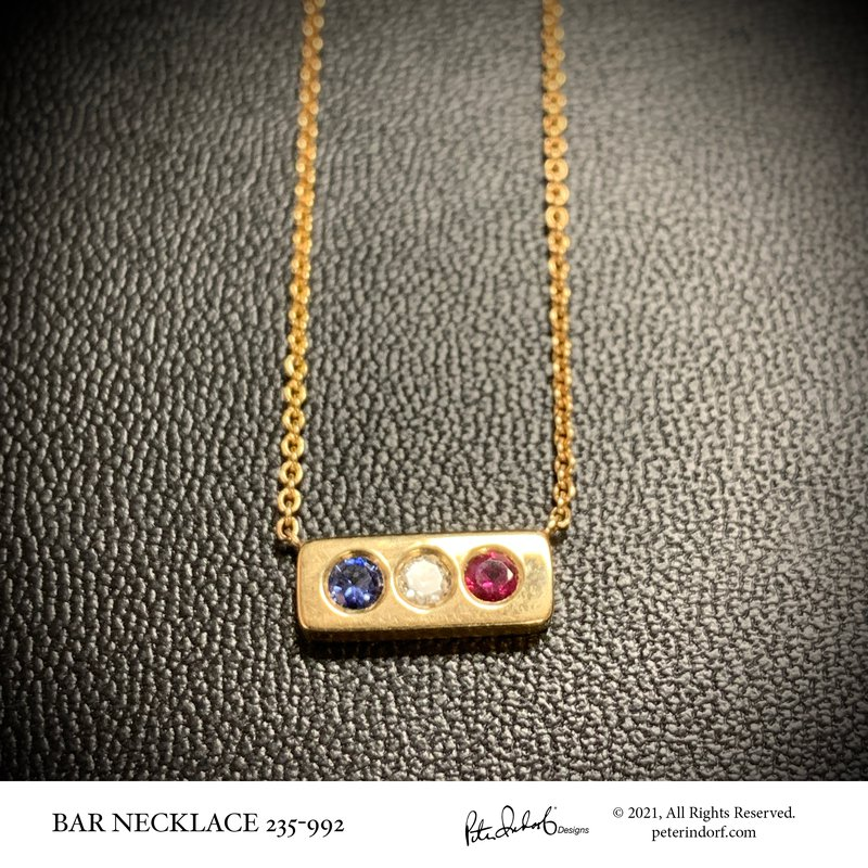 Peter Indorf Collection Bar Necklace