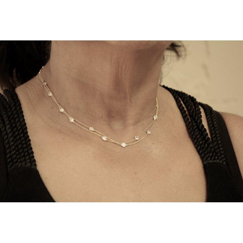 Estate Jewelry  Tiffany Diamonds by the Yard Necklace