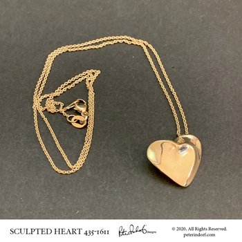 18K Sculpted Heart