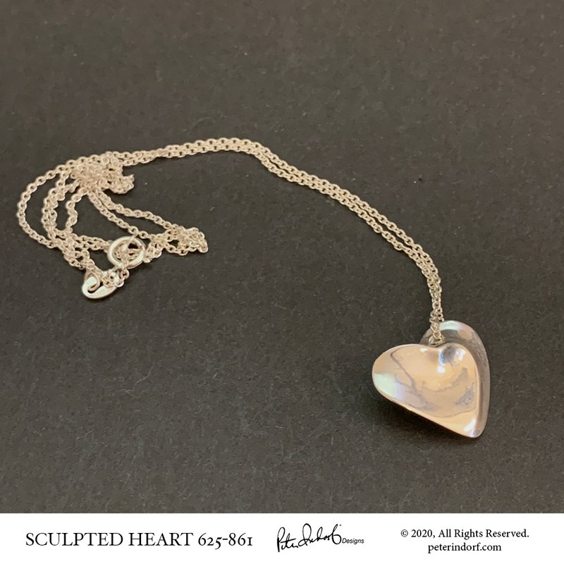 Peter Indorf Collection Sterling Silver Sculpted Heart