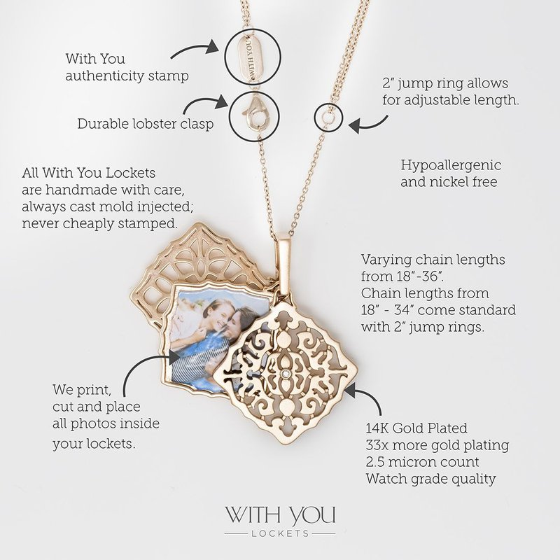 With You Mimi Locket Necklace