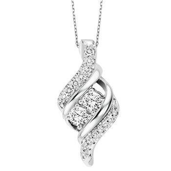 Two Stone-Diamond Pendant