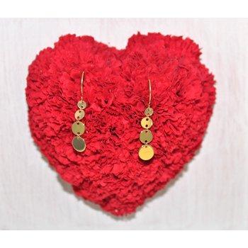14kt Yellow Gold Dot Earrings