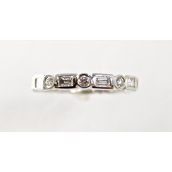 14 Kt White Gold Diamond Eternity Band